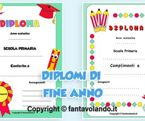 Diplomi per la scuola primaria