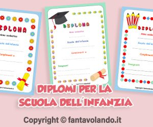 Diplomi per la scuola dell'infanzia