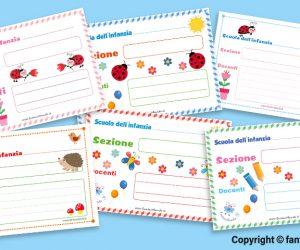 Cartelli per la sezione (scuola dell'infanzia)