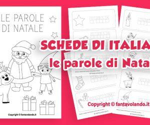 Schede didattiche di italiano: le parole di Natale