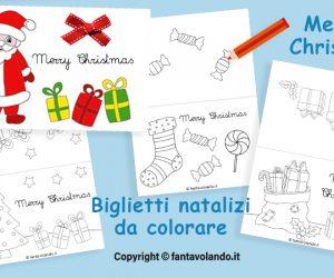 Bigliettini natalizi con la scritta Merry Christmas