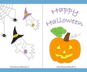 Biglietti di Halloween con la zucca