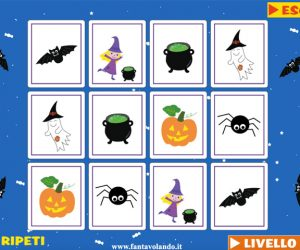 Il memory interattivo di Halloween