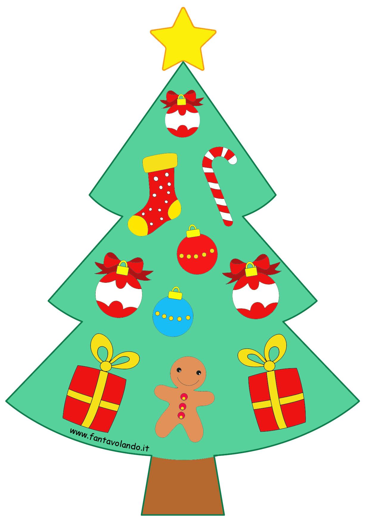 Albero Di Natale Da Colorare.L Albero Di Natale Da Colorare Fantavolando
