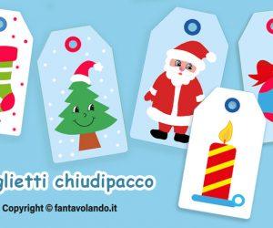 Bigliettini natalizi (chiudipacco)
