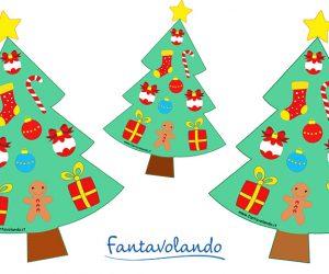 L'albero di Natale da colorare