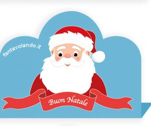 Il segnaposto con Babbo Natale