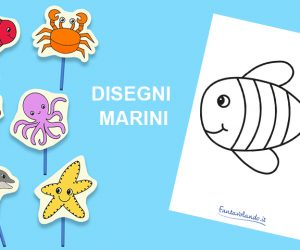 Disegni per l'estate: gli animali marini