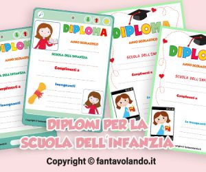 Diploma con il tablet per la scuola primaria