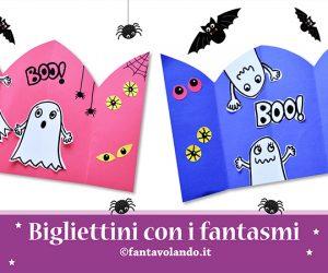 Halloween: bigliettini con i fantasmi