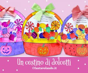 Lavoretti Halloween: un cestino di dolcetti