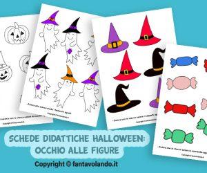 Schede didattiche Halloween: occhio alle figure