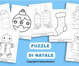 Schede didattiche: puzzle di Natale