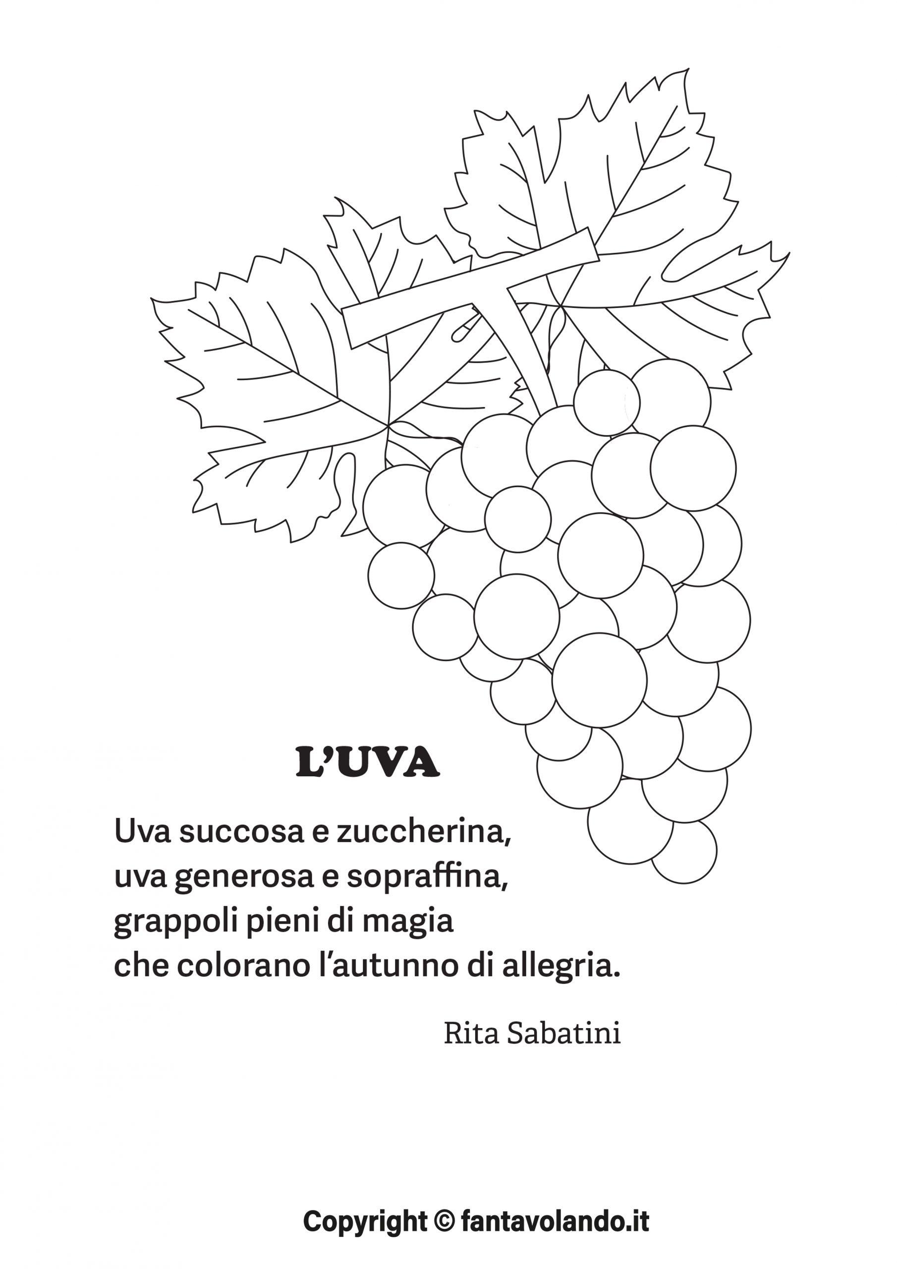 Eccezionale Autunno: scopriamo l'uva (schede e poesia) - Fantavolando NO33