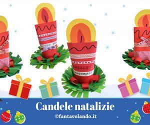 Lavoretti Natale: candele natalizie
