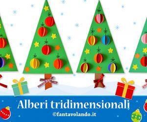 Lavoretti Natale: alberi tridimensionali