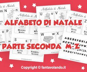 Schede didattiche: l'alfabeto di Natale (parte seconda M-Z)