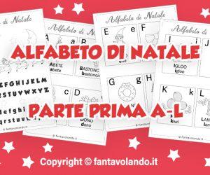 Schede didattiche: l'alfabeto di Natale (parte prima A-L)