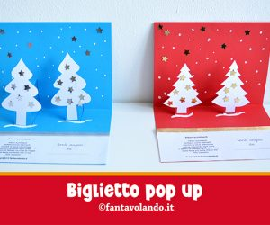 Natale: biglietti pop-up con gli alberi