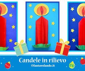 Lavoretti Natale: candele in rilievo