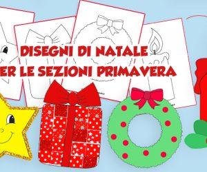 Attività di Natale: disegni per le sezioni primavera