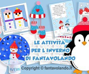 Inverno: lavoretti, schede didattiche, attività per bambini, disegni, pregrafismo, storie, poesie, coding