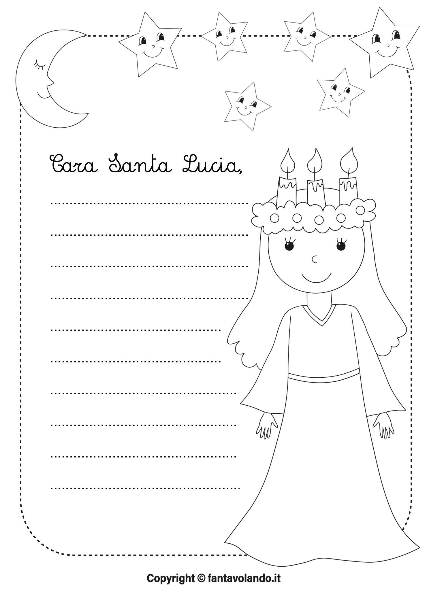 Santa Lucia Poesia E Letterina Fantavolando