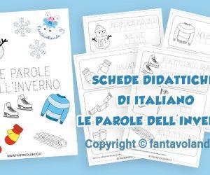 Schede didattiche di italiano: le parole dell'inverno