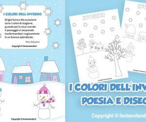 Schede didattiche: i colori dell'inverno (poesia e disegni)