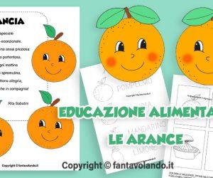 Schede di educazione alimentare: le arance