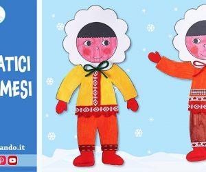 Lavoretti per l'inverno: simpatici eschimesi