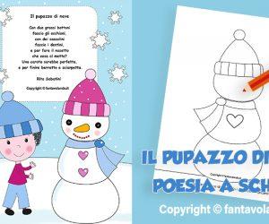 Poesie per l'inverno: Il pupazzo di neve