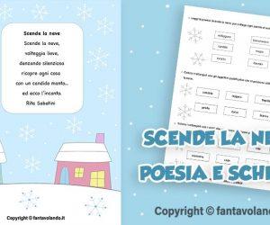 Scende la neve (poesia e scheda didattica)