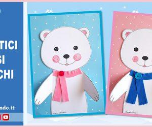Lavoretti per l'inverno: simpatici orsi bianchi