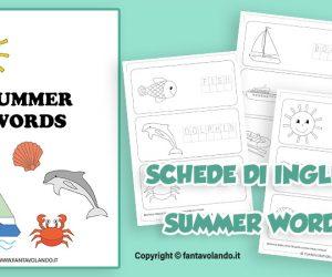 Schede didattiche di inglese: summer words