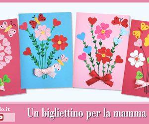 Festa della mamma: Biglietto di auguri con i cuori