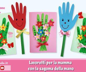 Festa della mamma: fiori con la sagoma della mano