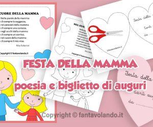 Poesia e biglietto di auguri per la festa della mamma