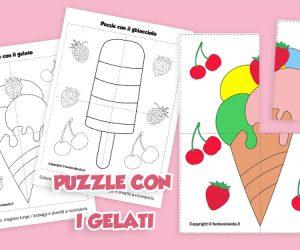 Attività per l'estate: puzzle con i gelati