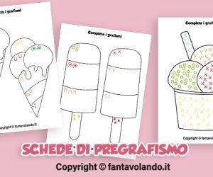 Schede di pregrafismo: i gelati