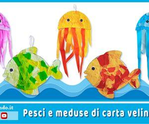 Lavoretti per l'estate: pesci e meduse di carta velina