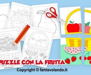 Schede per l'estate: puzzle con la frutta