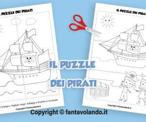 Attività per l'estate: il puzzle dei pirati