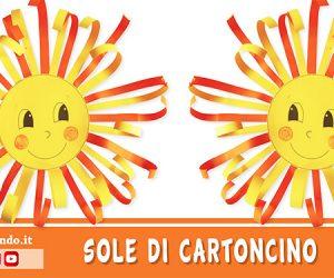 Attività creative per l'estate: il sole di cartoncino